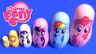 MY LITTLE PONY Mashmallows Pinkie Pie MLP PJ Masks Stacking Cups