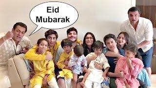 Salman Khan With Family Wishes Eid Mubarak To Fans - Inside Video
