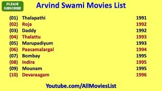 Arvind Swami Movies List