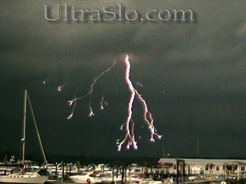 2000 FPS Lightning & Rain in UltraSlo motion with audio