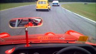 Honda S800 racing with Datsun, MGB and Mini Cooper