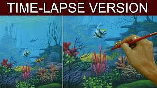 Time-Lapse Version | Underwater | Acrylic Painting by JM Lisondra