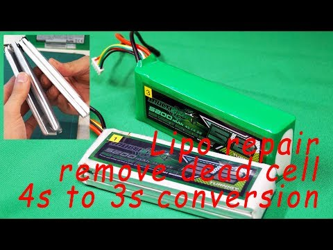 Save the lipo - Repair LiPo battery pack [remove dead cell] [4s to 3s conversion]