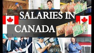 Average Salaries in Canada 2018