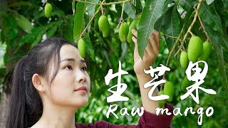 Raw mangoes can be served as cold salad or stir-fried with beef in Yunnan, have you ever eaten that?
