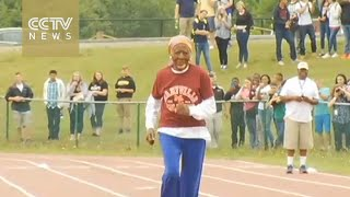 100-year-old woman shatters 100 meters sprint record