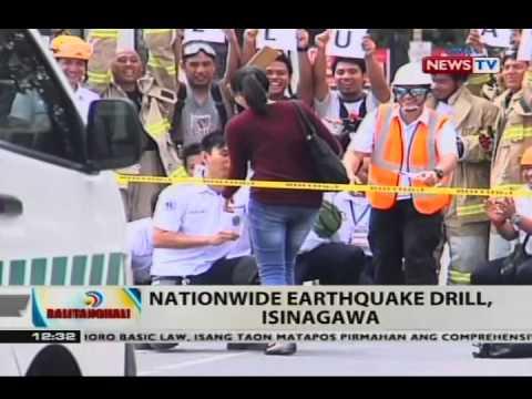 BT: Nationwide earthquake drill, isinagawa