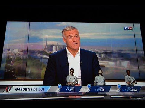 La liste de Deschamps pour l'Euro au JT de TF1