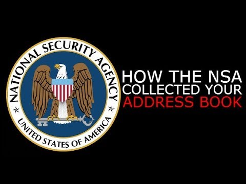 If you've got an email address, use webchat services or pretty much do anything on the Internet, chances are the NSA has got hold of your contacts. They coll...
