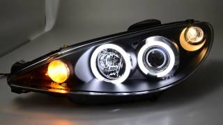 SW-CCFL Angel Eye Scheinwerfer Peugeot 206 black SW-Tuning
