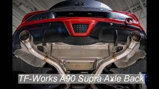 TF-Works A90 Supra Axle Back Exhaust