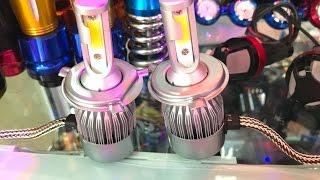 Download Đèn Pha Chính C6 Chân Cắm H4 cho xe máy 0962.872.069 3Gp Mp4