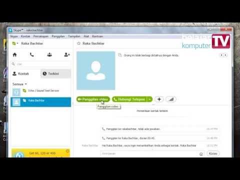 Chatting, telepon, dan video call dengan Skype