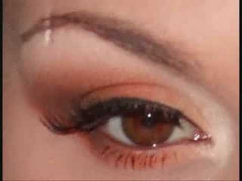 cream , orange and brown makeup tutorial ( fab for blue eyes + ginger/red