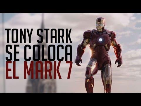 Tony Stark (Iron Man) se coloca el mark 7 [Los Vengadores]