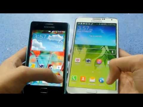 Samsung Galaxy Note 3 Android 4.3 vs Samsung Galaxy S2 Android 4.1.2 (Software Comparison)