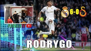 REACCIONANDO AL HAT-TRICK DE RODRYGO | REAL MADRID 6-0 GALATASARAY | PARRAS