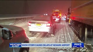 Storm causes massive delays at Newark Airport