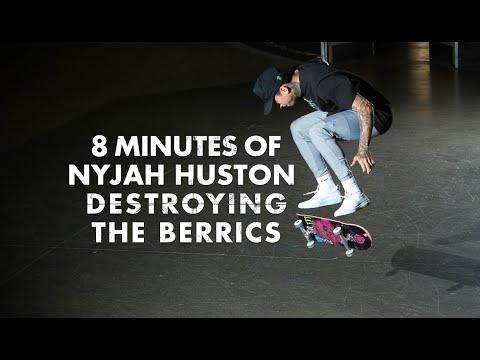 8 Minutes Of Nyjah Huston Destroying The Berrics