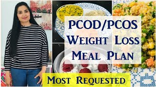Diet Plan to Cure PCOS / PCOD Permanently/ LOSE 10 KGs / Full Day Meal Plan/ Samyuktha Diaries