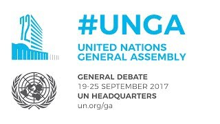 #UNGA General Debate - 21 September 2017