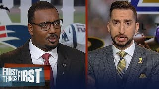 Nick Wright & Chris Canty boldly predict that Ravens will beat Patriots | NFL | FIRST THINGS FIRST