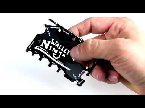 Wallet Ninja 16 in 1 Multi-purpose Credit Card Size Pocket Tool, Screw Drivers