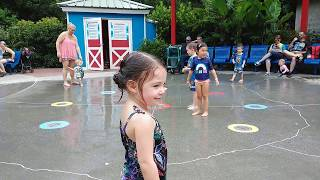 Playing at the water fountain at ZOO Atlanta