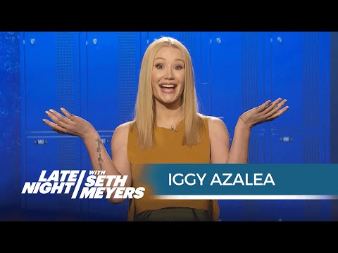 Watch Iggy Azalea Hilariously Explains Teen Slang With Seth Meyers news