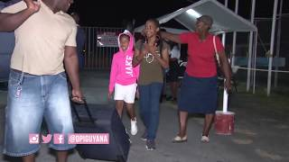 Guyanese athletes return home from the South American Games in Santiago, Chile