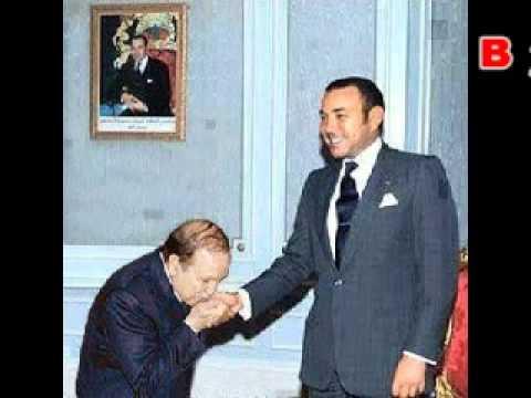 فضيحة بو تفليقة  يقبل يد ملك المغرب Abdelaziz Bouteflika