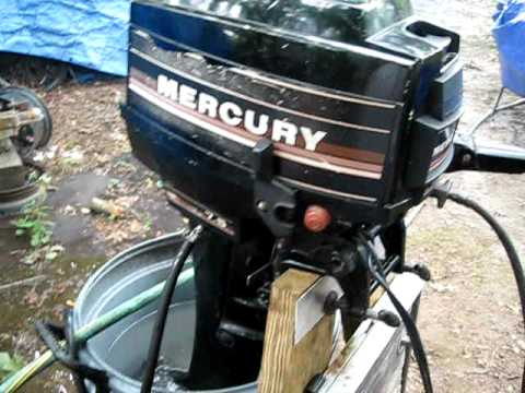 Running Mercury 7.5hp Outboard boat engine after stored & winterized for several years.