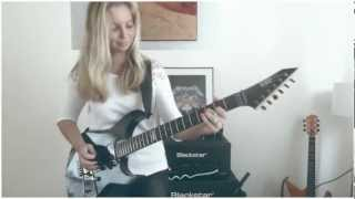 One - Metallica by Cissie on Guitar - with Hammett solo MULTICAM HD