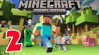Minecraft PE - Survival Mode - Gameplay Part #2 - Let's Play Video Game Commentary - MCPE
