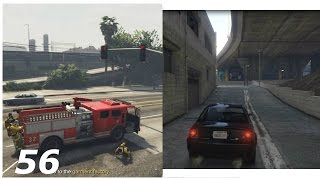 GTA 5 Story Mode Part 56- Getting a FireTruck And A Getaway Car