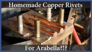 Homemade copper rivets! - Acorn to Arabella