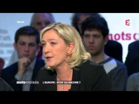 Marine Le Pen (FN) - Mots Croisés - Europe stop ou encore ?
