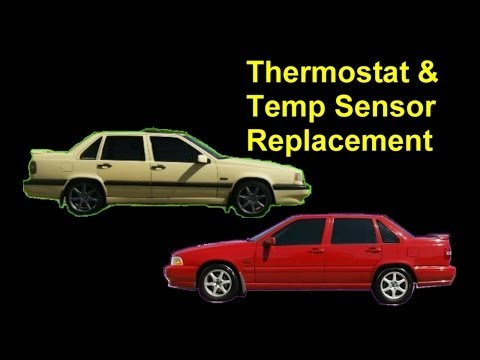 Thermostat and ECT (Engine Coolant Temperature Sensor) Replacement. Volvo 850. S70. XC70. V70. etc.