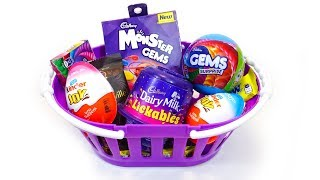 Kinder Joy and Other Candies In Basket