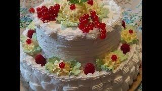 Двухъярусный творожно ягодный торт