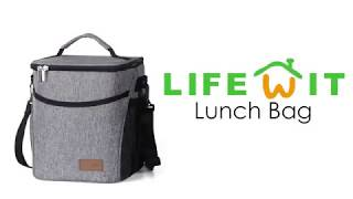 Lifewit Insulated Lunch Box Lunch Bag for Adults Men Women, 9L (12-Can) Soft Cooler Bag