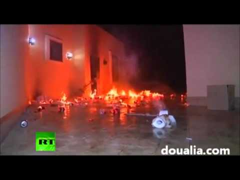 US Ambassador To Libya Killed &amp; US Consulate On Fire.