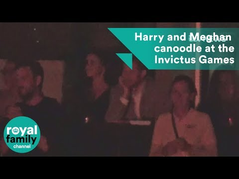 Prince Harry and Meghan Markle canoodle at the Invictus Games