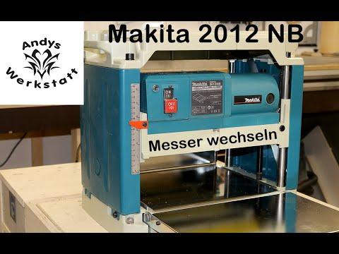 Wie geht das? Wendemesser wechseln bei Makita Dickenhobel 2012NB