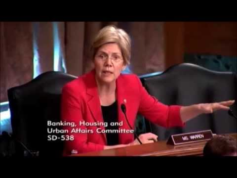 Senator Elizabeth Warren Continues Ruthless Questioning  Of Panelists On Illegal Foreclosures