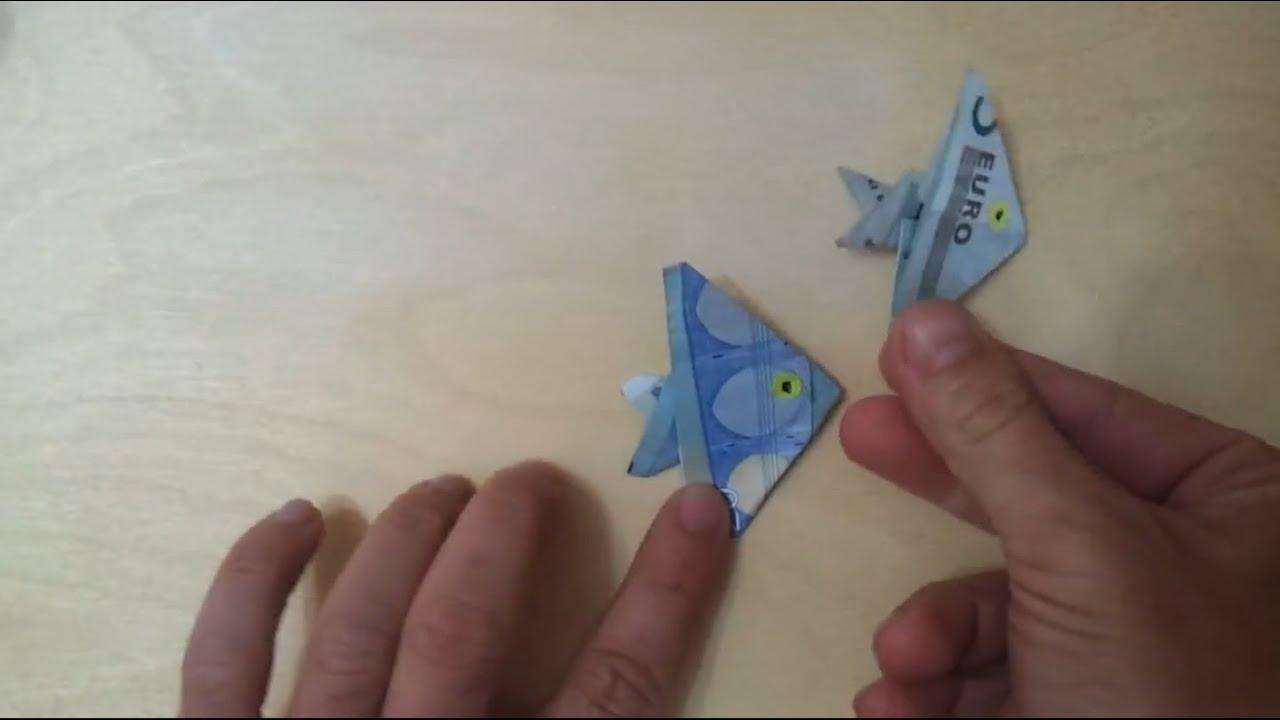how to fisch aus geld falten anleitung f r geld geschenk zum fisch falten origami technik. Black Bedroom Furniture Sets. Home Design Ideas