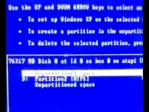 How To Install Windows XP Sp2 (Part 1)