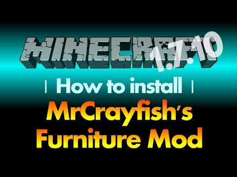 How to install MrCrayfish's Furniture Mod 1.7.10 for Minecraft 1.7.10 (with download link)