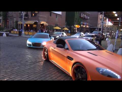 Crazy Spots In New York City - Bugatti / Ferrari / Lamborghini / Maserati
