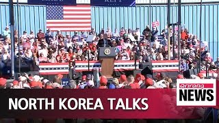 Trump says no rush to N. Korea deal, but things will go well